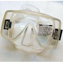 Маска BS DIVER AXE прозрачный силикон, моностекло, безрамочная