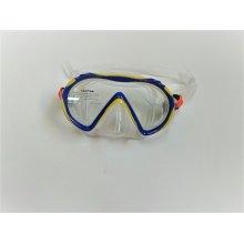 Маска DS DIVER Medusa прозрачный силикон, моностекло, детская