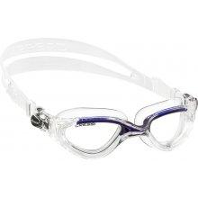 Очки  для плаванья CRESSI FLASH силикон чисто-белые, просветленная оптика