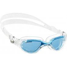 Очки  для плаванья CRESSI FLASH силикон прозрачный, оправа прозрачо-голубая, просветленная оптика