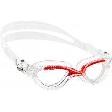 Очки  для плаванья CRESSI FLASH силикон черный, цвет: черно-красный