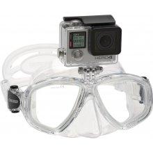 Маска Cressi ACTION (с креплением для видеокамеры) силикон: Прозрачный, цвет рамки: Прозрачный