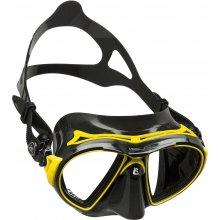 Маска Cressi AIR силикон: Черный, цвет рамки: Жёлтый
