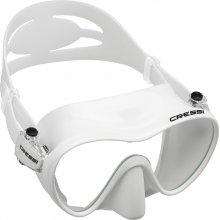 Маска Cressi F1 WHITE (белая) силикон: , цвет рамки: белая