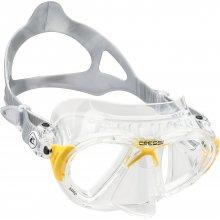 Маска Cressi NANO силикон: Прозрачный, цвет рамки: Прозрачный/Жёлтый