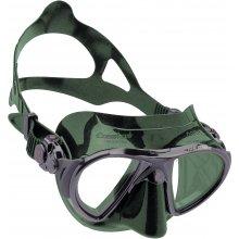 Маска Cressi NANO силикон: Зеленый, цвет рамки: Черный