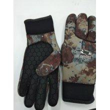 Перчатки BS DIVER пятипалые CAMOLEX 5mm р. M (серый камуфляж)