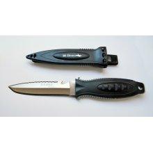 Нож BS DIVER OS (420 J2 ss) нерж.сталь в ножнах с ремешками (для охоты)