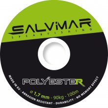 Катушечный линь SALVIMAR Полиэстер ø1,7mm - чёрно-зелёный (метр)